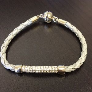 Jewelry - Gray rope bracelet with magnetic clasp